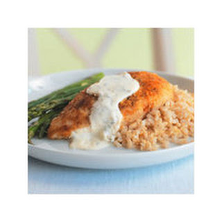 Parmesan-Crusted Chicken in Cream Sauce.