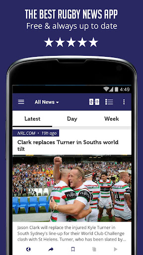 Rugby News Live Scores - SF