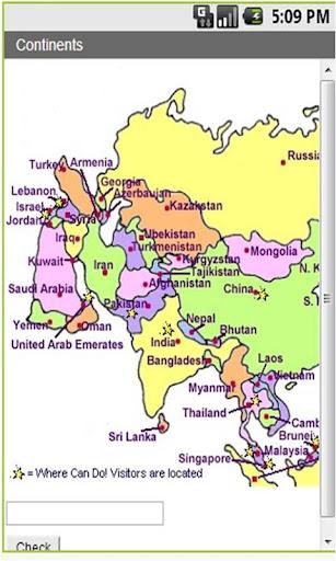 Continents Oceans Quiz