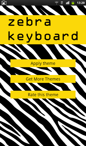 Zebra Keyboard Theme