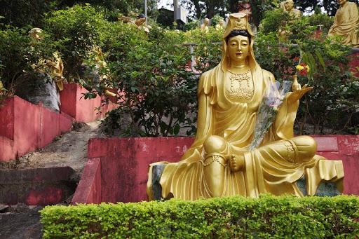 A statue in Hong Kong.