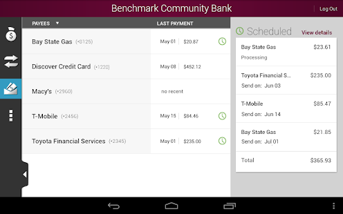 Benchmark Community Bank - screenshot thumbnail