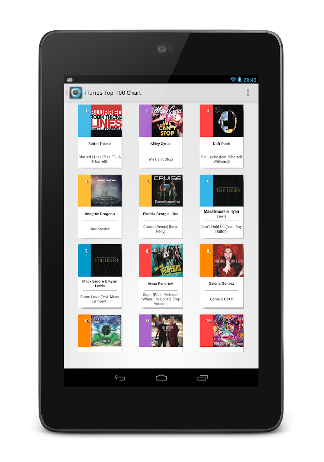 Chartix: Android Music Charts - screenshot