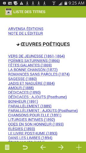 Verlaine : Oeuvres