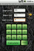 Screenshot of Mulch Calculator Pro
