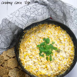 Roasted Hatch Chile Creamy Corn Dip