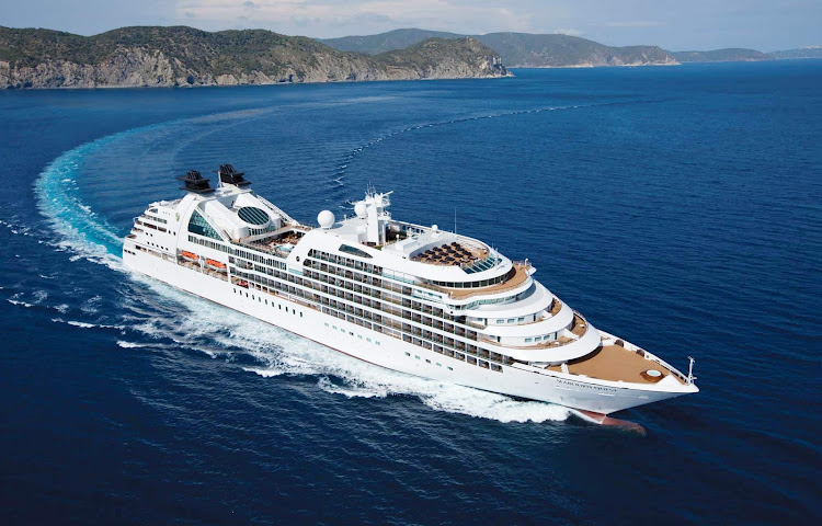 Seabourn Quest at sea.