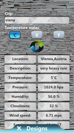蓝色时钟和天气小工具