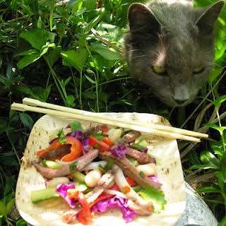 A salad my cat and I love.