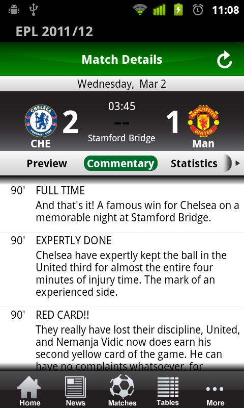 English Premier League 2011/12- screenshot
