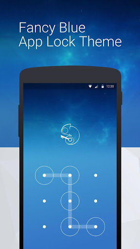 Fancy Blue: App Lock Theme