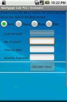 Screenshot of Mortgage Calculator Pro (Auto)