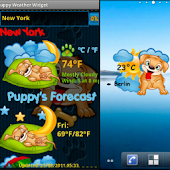 Puppy Weather Widget