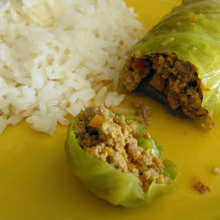 Cabbage Rolls Stuffed with Ground Beef.