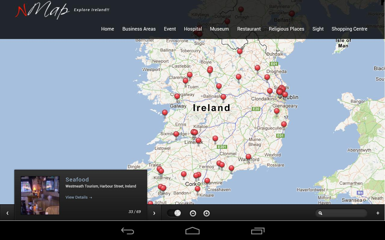 Ireland Interactive Guide nMap - screenshot