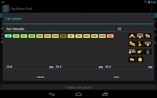 Screenshot of Top Eleven Tool