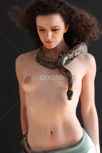 Apologise, Snake with nude girls remarkable