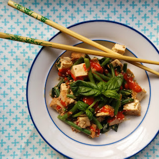 Summery Tofu Salad with Green Beans, Fresh Herbs, and Sesame Dressing
