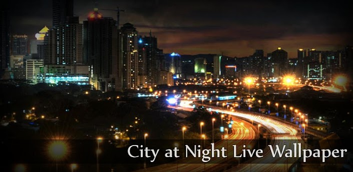 City at Night Live Wallpaper