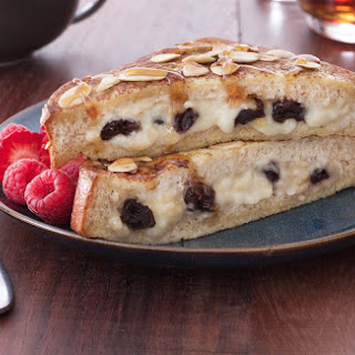 Cherry and Banana Stuffed French Toast with Maple Crème