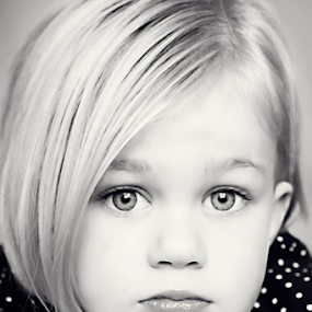 The Pout  by Tiona Anglin Appel - Babies & Children Child Portraits ( girl, black and white, children, portrait )