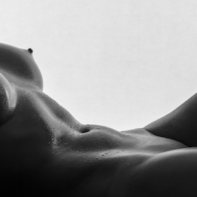 Naked Lines by Paul Phull - Nudes & Boudoir Artistic Nude ( body, nude, lighting, black and white, waterdrops )