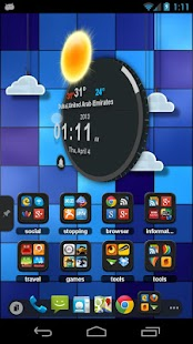 TSF Clock Widget - screenshot thumbnail