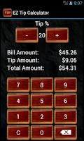 Screenshot of EZ Tip Calculator