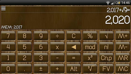 SCalc Wood Theme - screenshot thumbnail