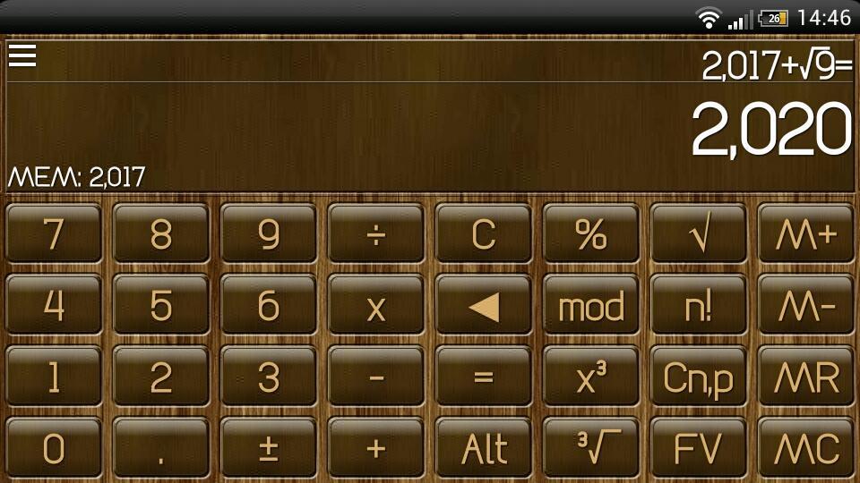 SCalc Wood Theme - screenshot