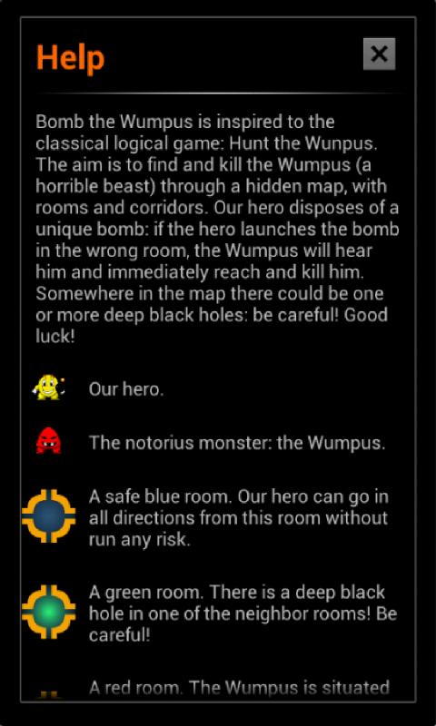 Bomb the Wumpus- screenshot
