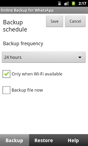 Auto Backup for WhatsApp