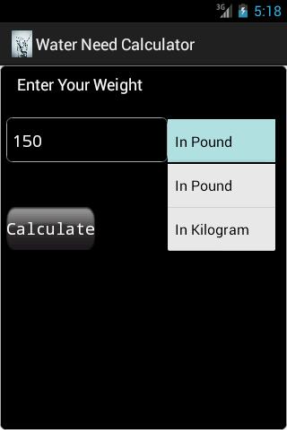 Daily Water Need Calculator