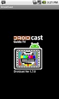 Screenshot of Guida TV Droidcast