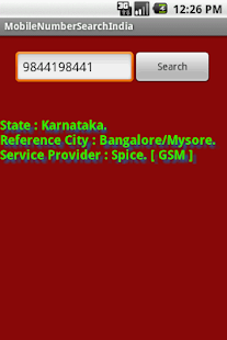 Mobile Number Tracker India - screenshot thumbnail