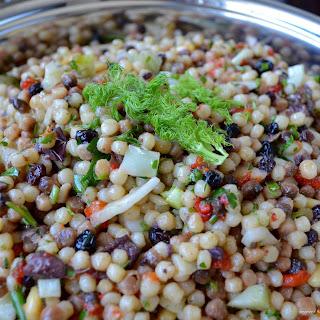 Fregola Salad with Roasted Red Pepper