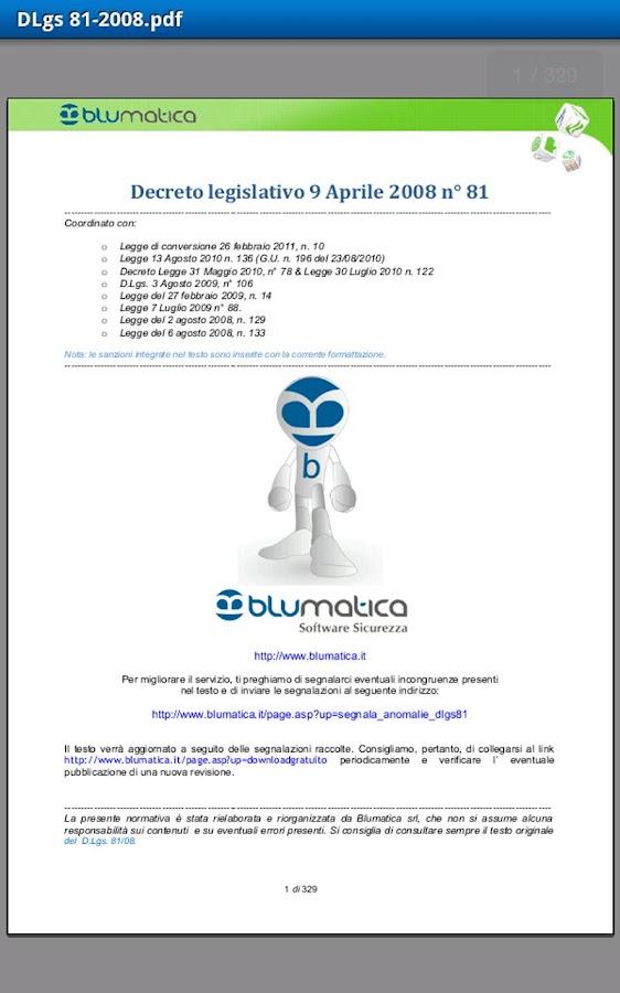 Blumatica Safety Lex- screenshot