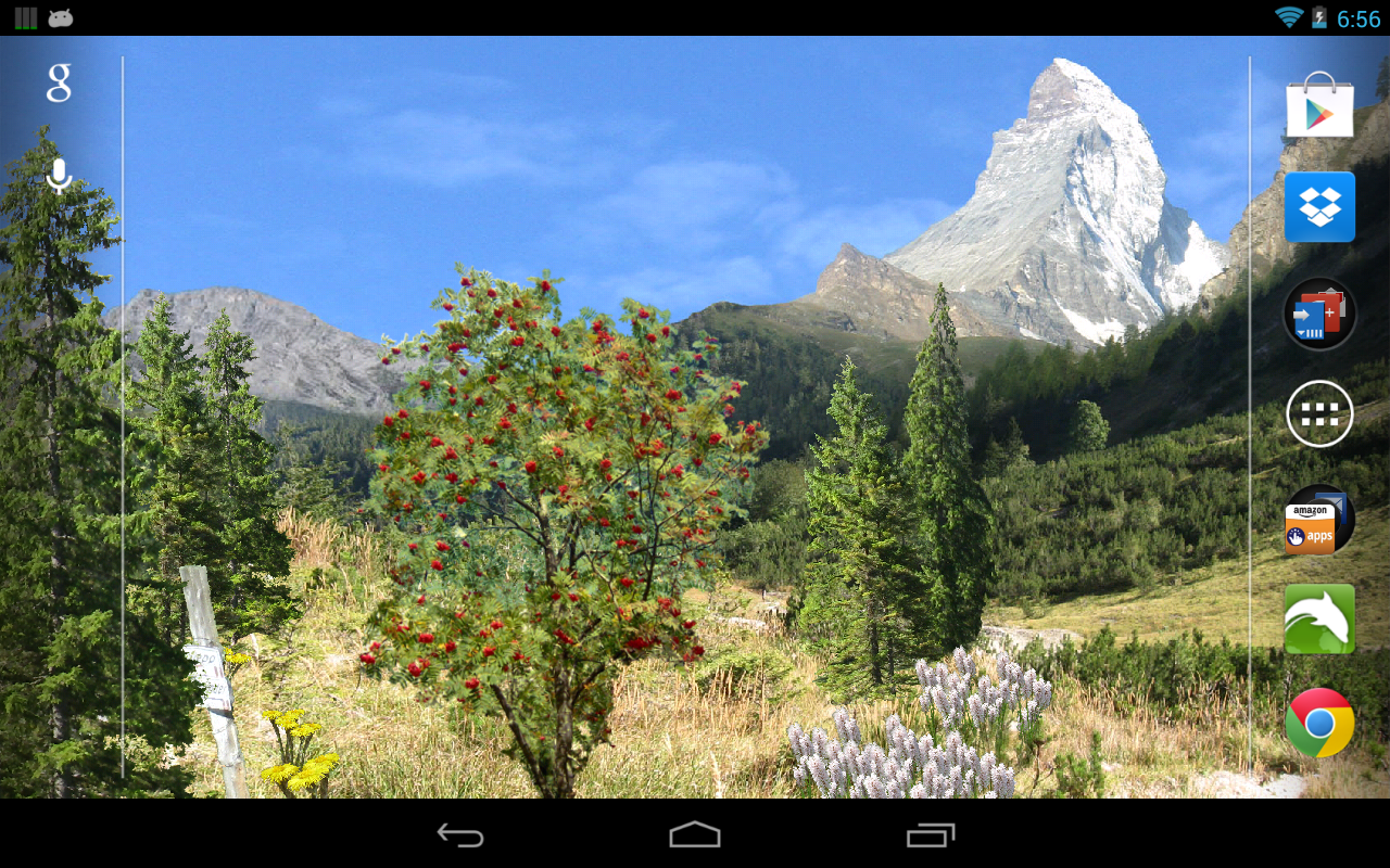 Mountains Live Wallpaper Pro- screenshot