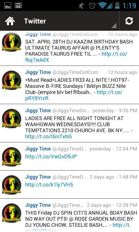 JiggyTime Mobile- screenshot