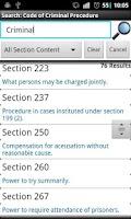 Screenshot of CrPC-Code of Criminal Procedur