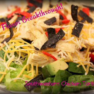 Southwestern Chicken Tortilla Chopped Salad