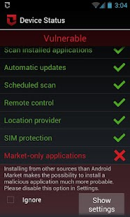 Zoner Mobile Security - screenshot thumbnail