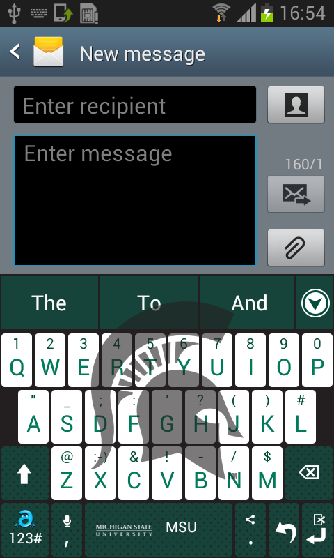 Michigan State Keyboard - screenshot