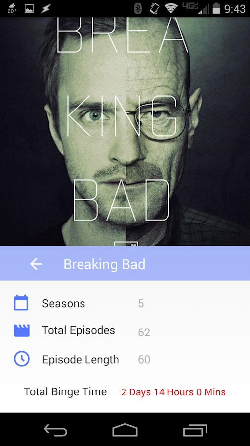Television Binge Calculator - screenshot