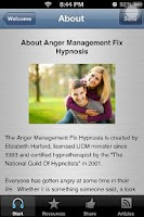 Screenshot of Anger Management Hypnosis App