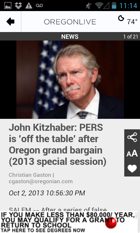 OregonLive.com - screenshot
