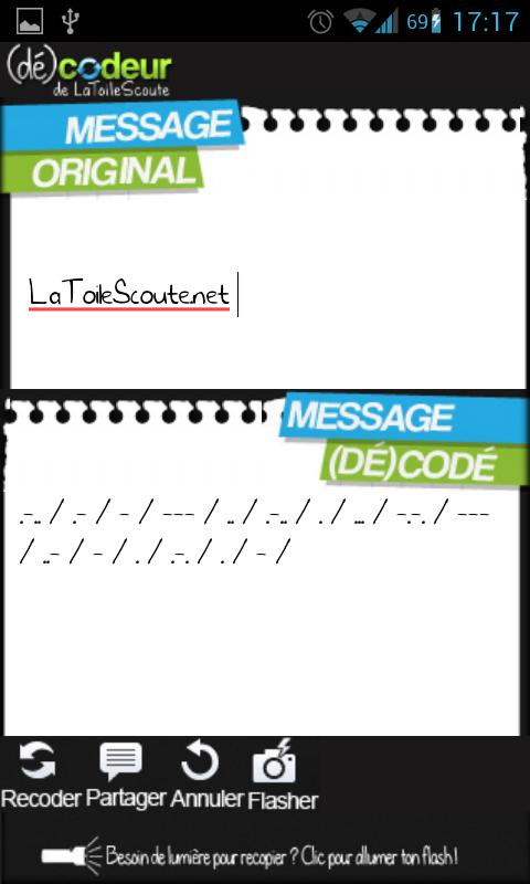 Codeur / décodeur de messages- screenshot