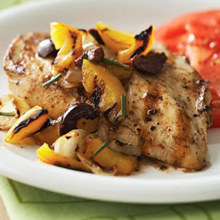 Chicken with Yellow Pepper-Olive Grilled Salsa