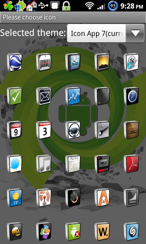 Icon App 7 Go Launcher EX- screenshot