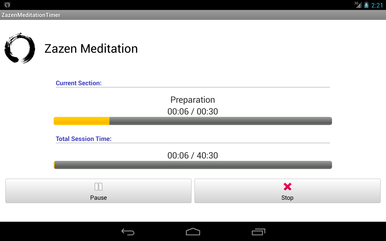 Zazen Meditation Timer - screenshot